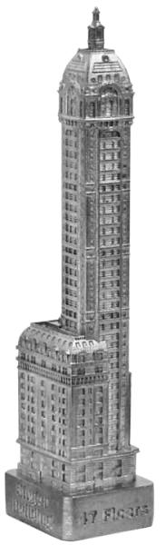 Replica Buildings Infocustech Singer Building 150 New