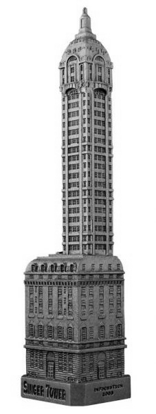 Replica Buildings Infocustech Singer Tower New York