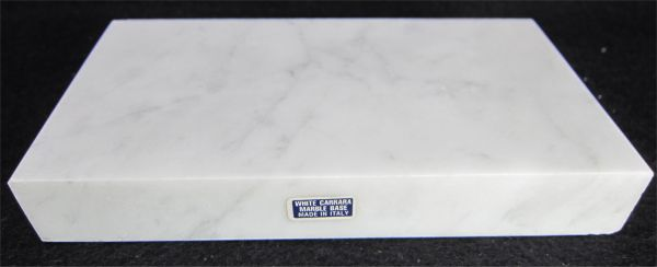 Short White Marble Base